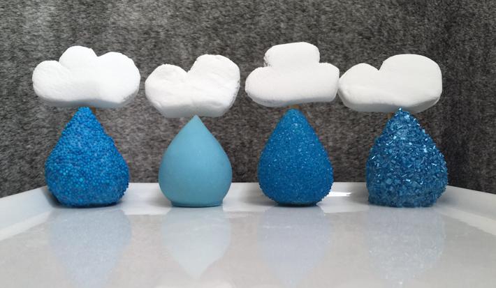 spring showers cakepops raindrop cakepops