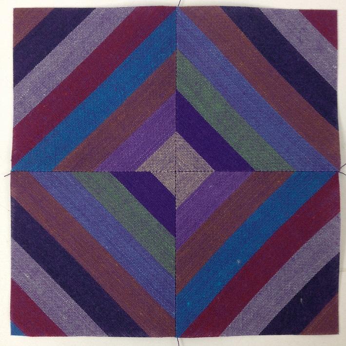 striped diamond block