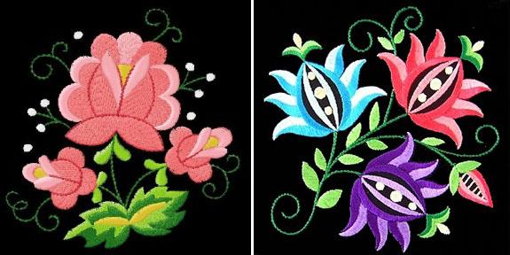 wycinanki flowers