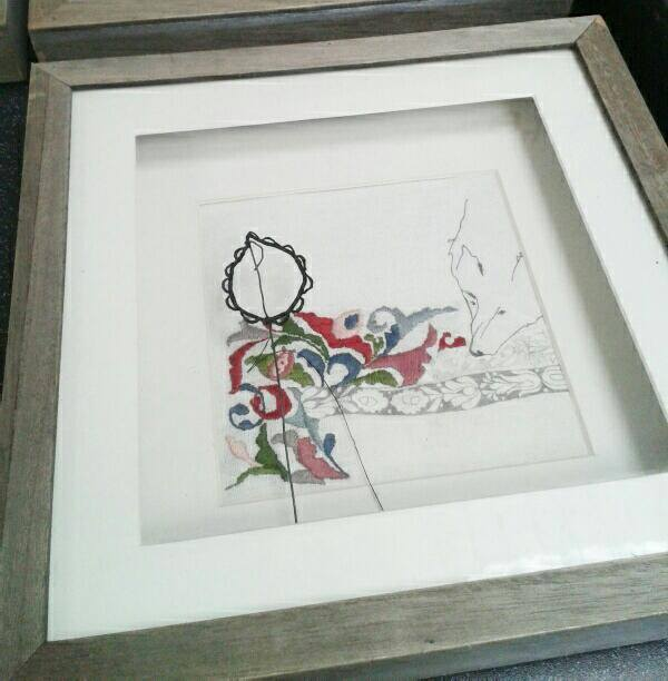 framed fabric print