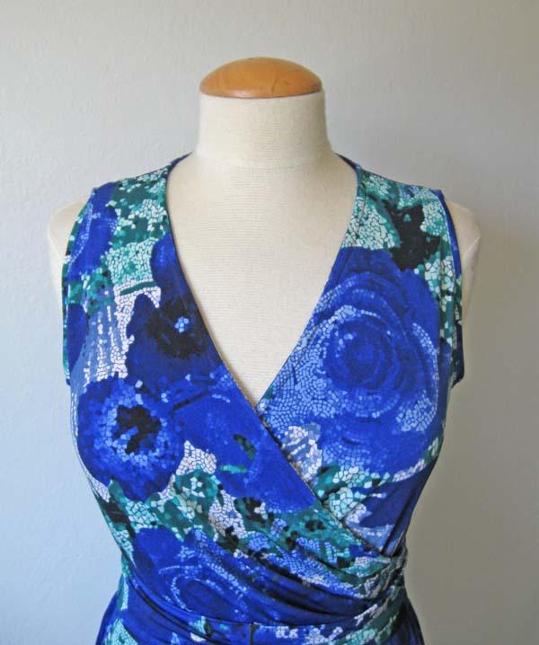 wrap dress neckline example