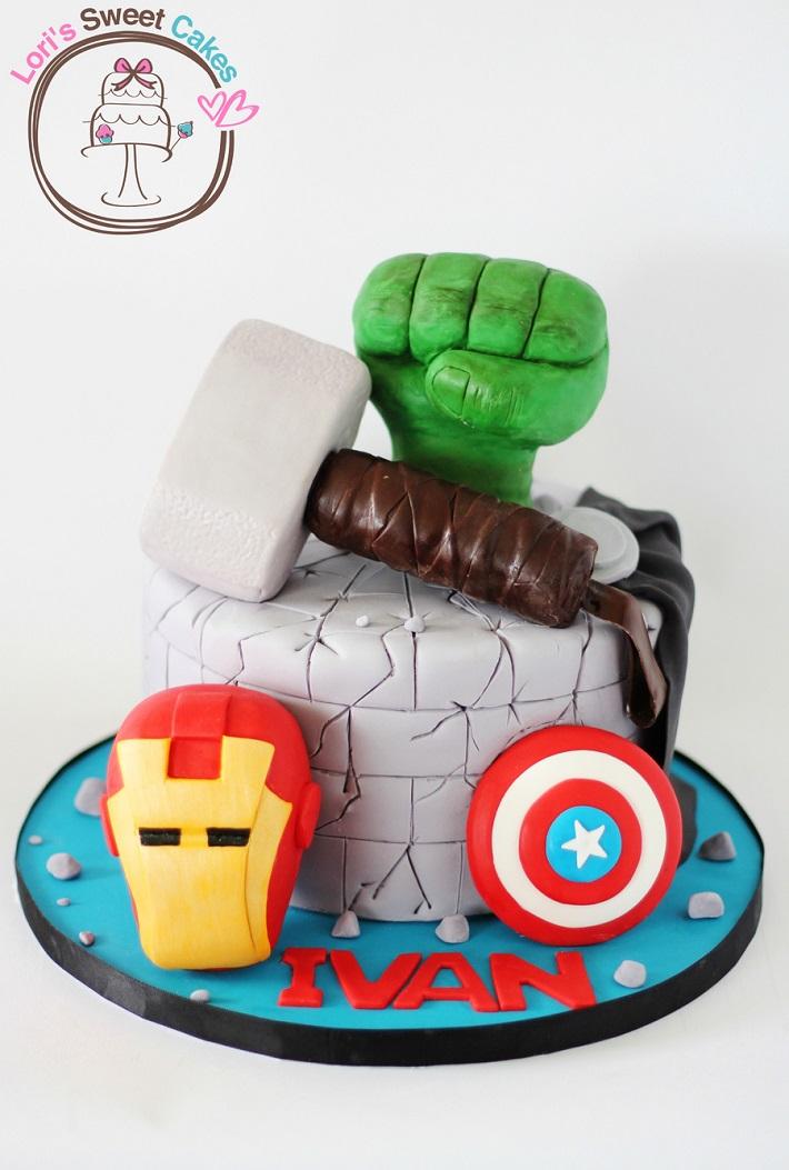Avengers single tier cake