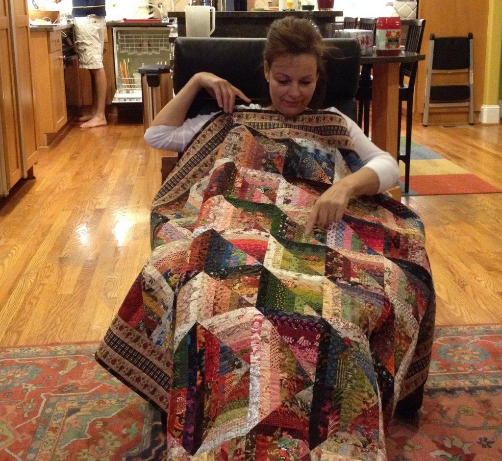 Anita's Self-Mitered Log Cabin quilt