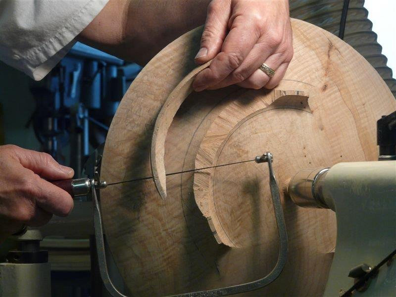 bowl on the Coping saw