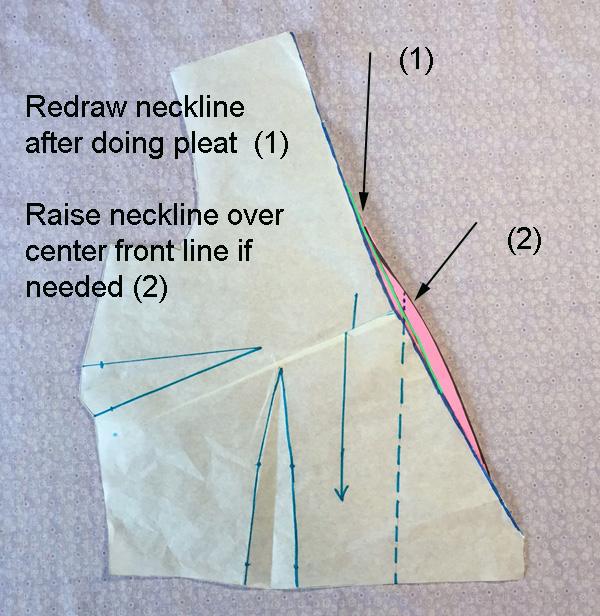fill in neckline edge