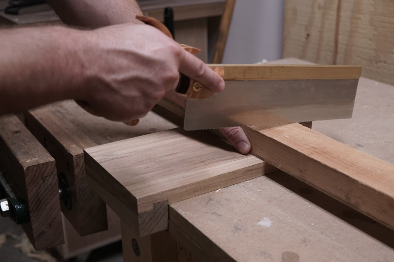The bench hook in use.