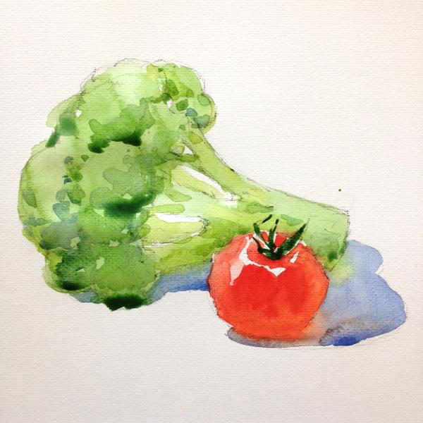 Broccoli and tomato - step 2