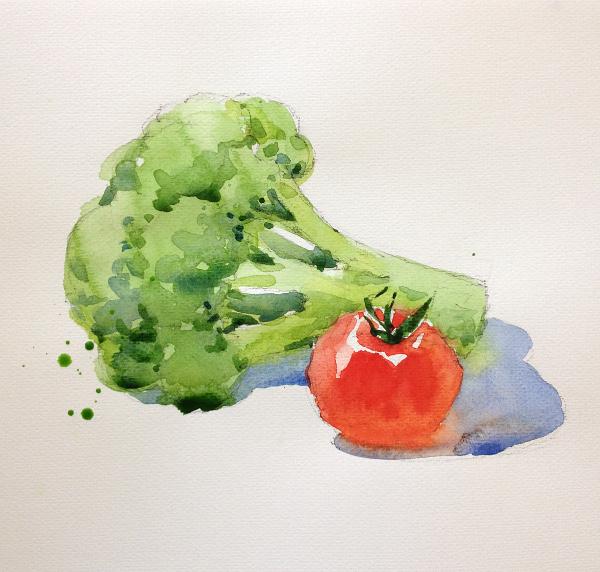Broccoli and tomato - step 3
