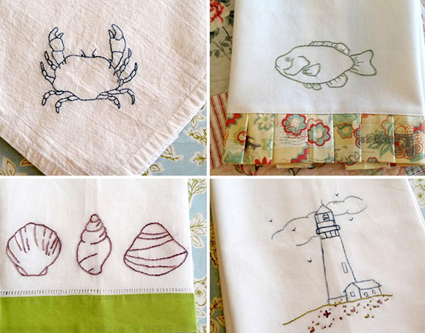 By The Sea Hand Embroidery Pattern