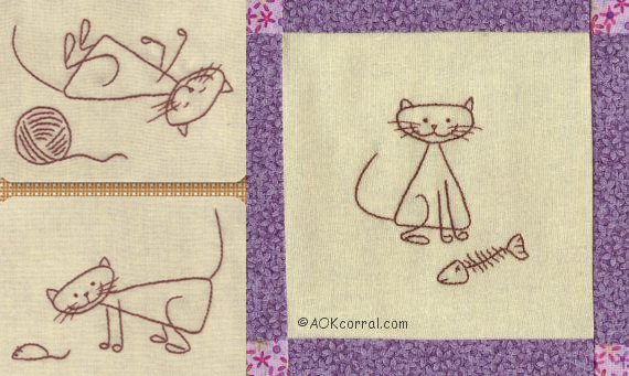 Cat Embroidery Patterns