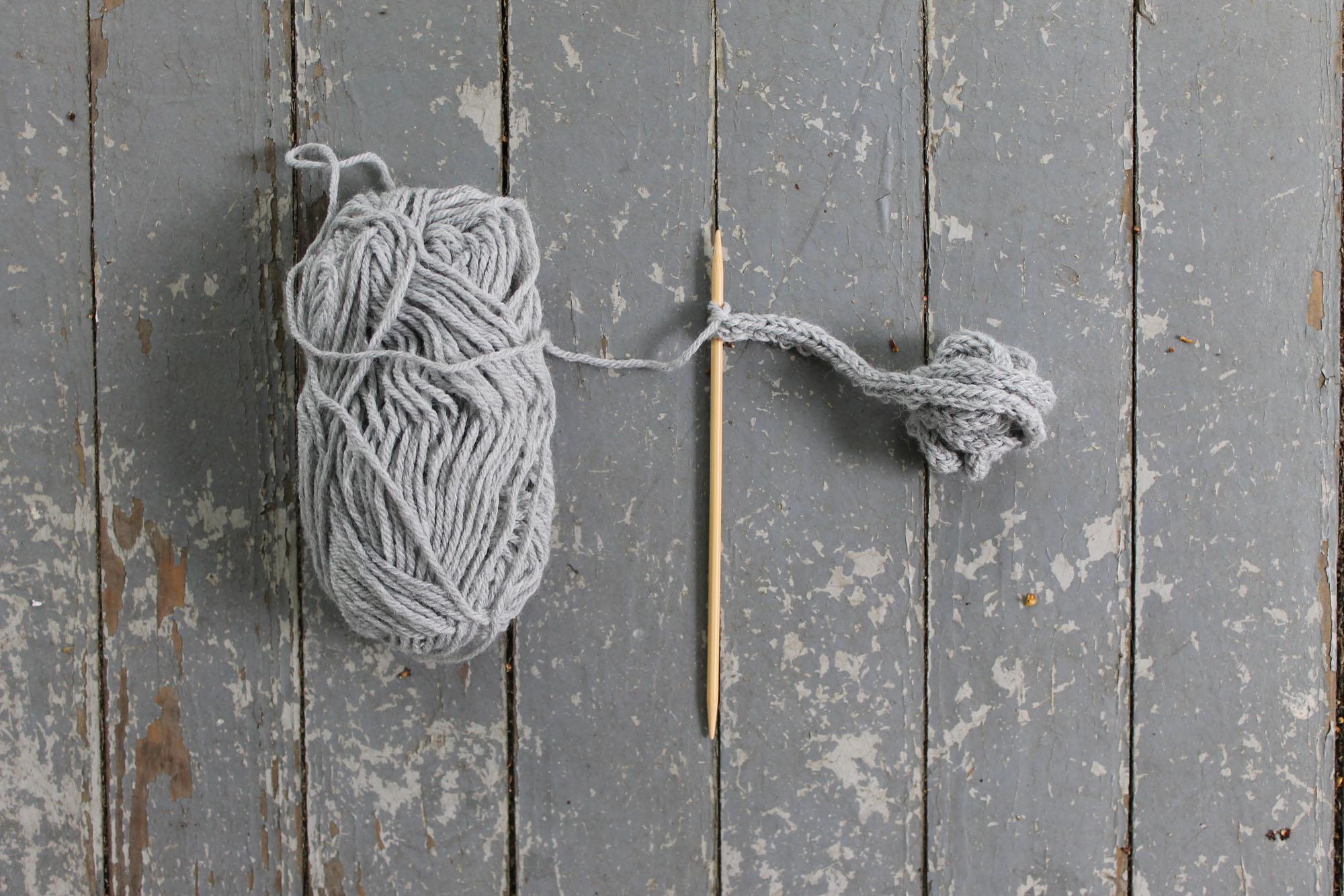 Chunky yarn i-cord