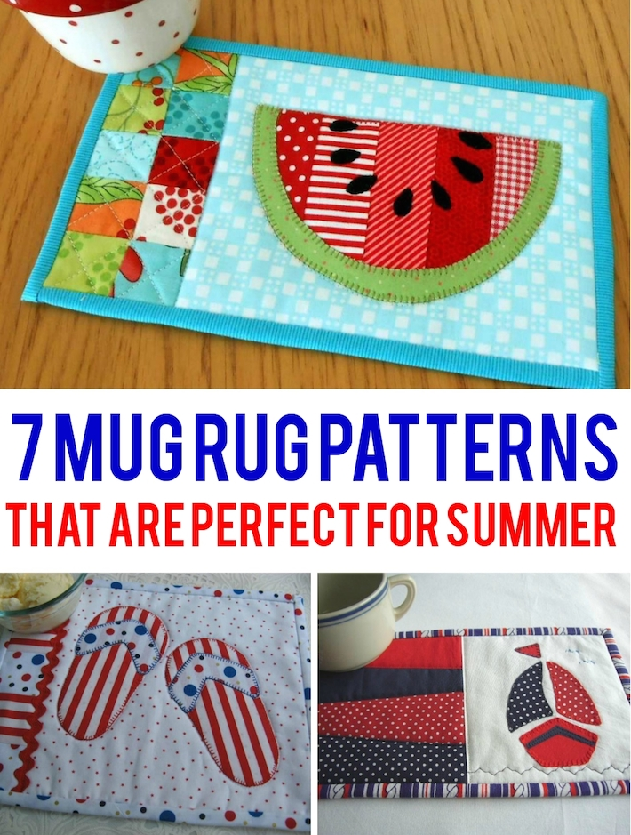 Summer Mug Rug Patterns