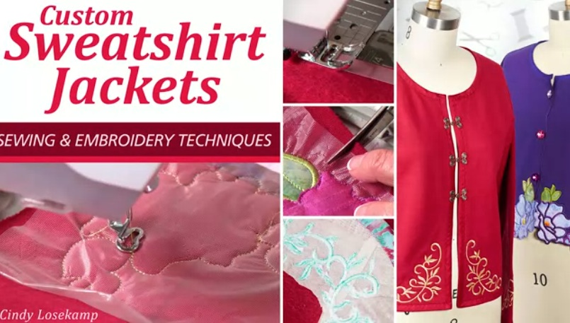Custom Sweatshirt Jackets Sewing embroidery Techniques