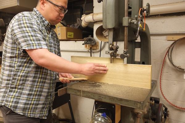 Resawing an oak board