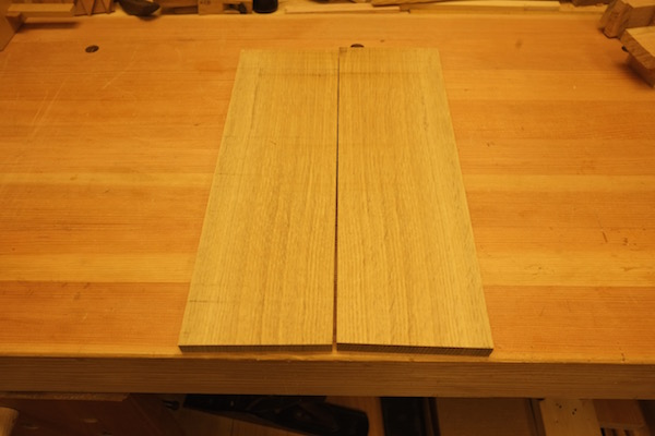Resawn oak boards