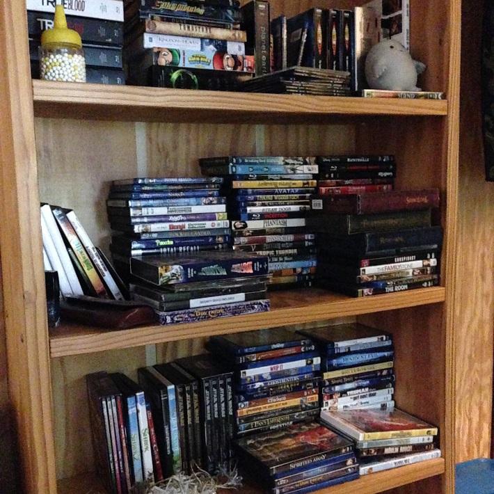 DVD shelf