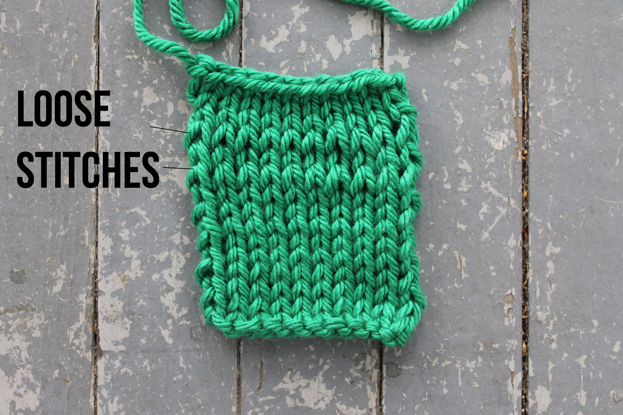 How to knit tighter stitches