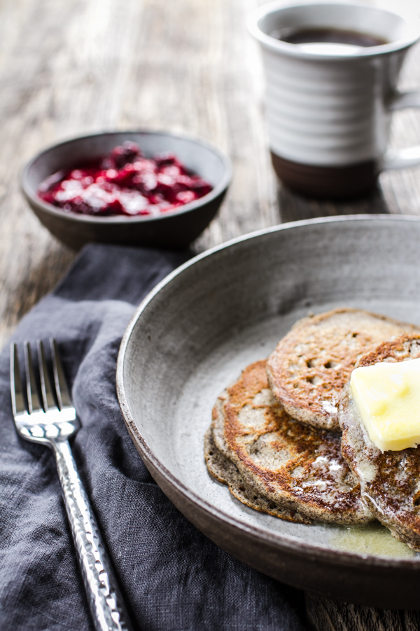 Buckwheat Pancakes with Berry Topping