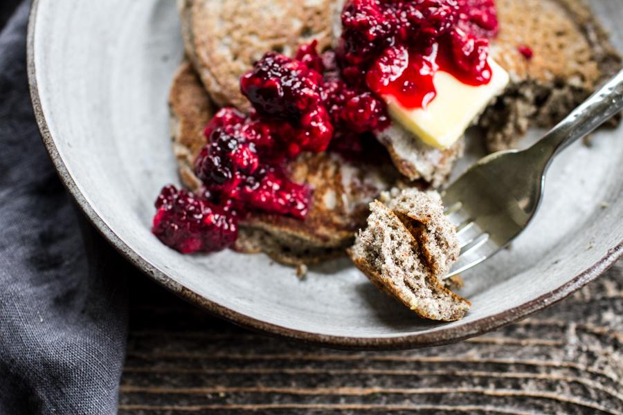 Fluffy Gluten-Free Buckwheat Flour Pancakes