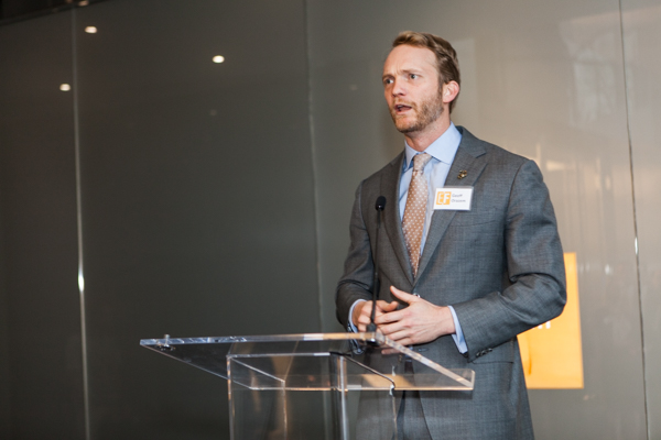 An event speaker