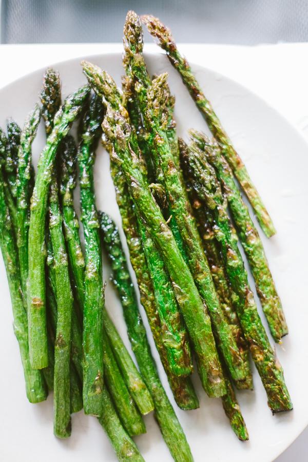 Finished fried Asparagus