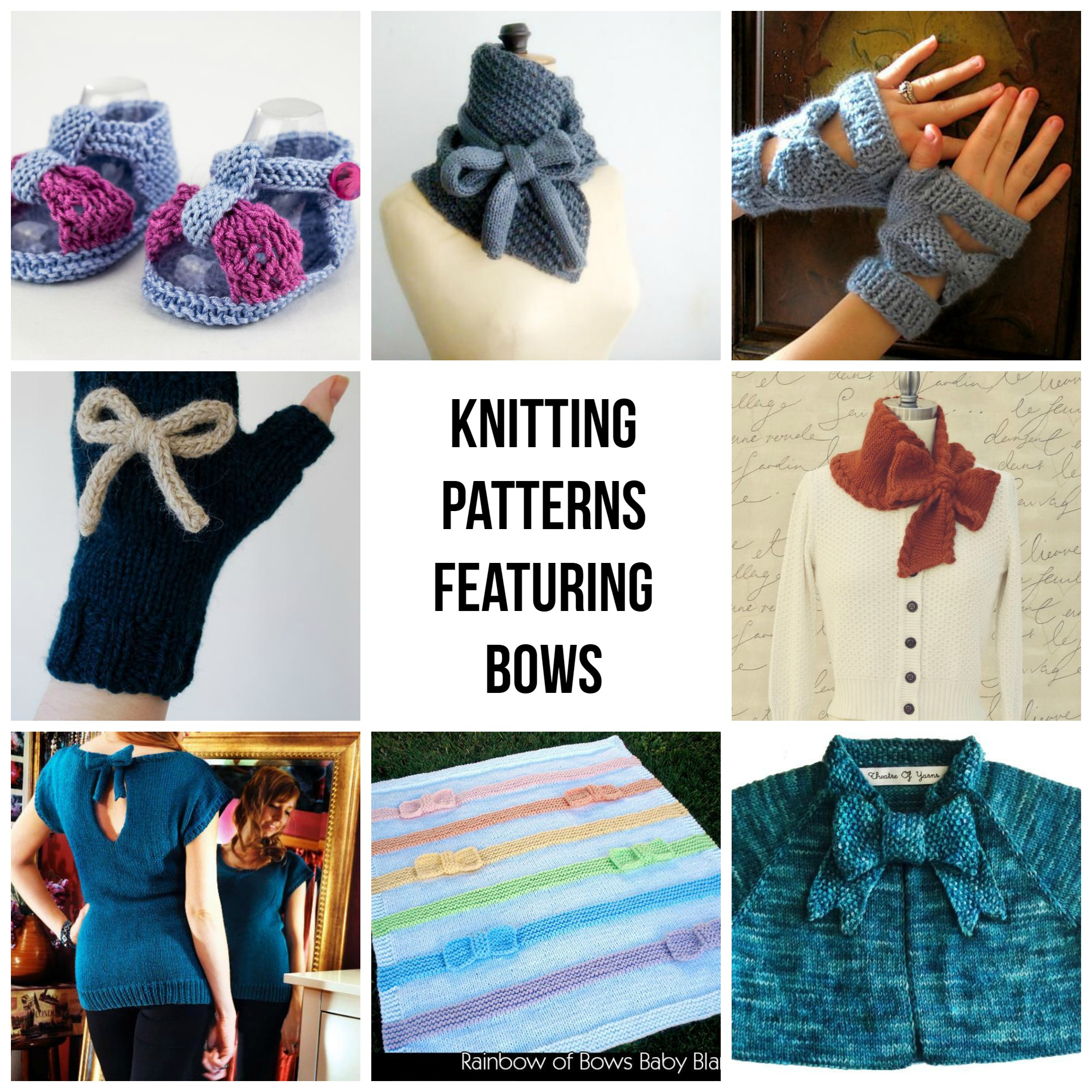 Knitting Patterns Featuring Bows