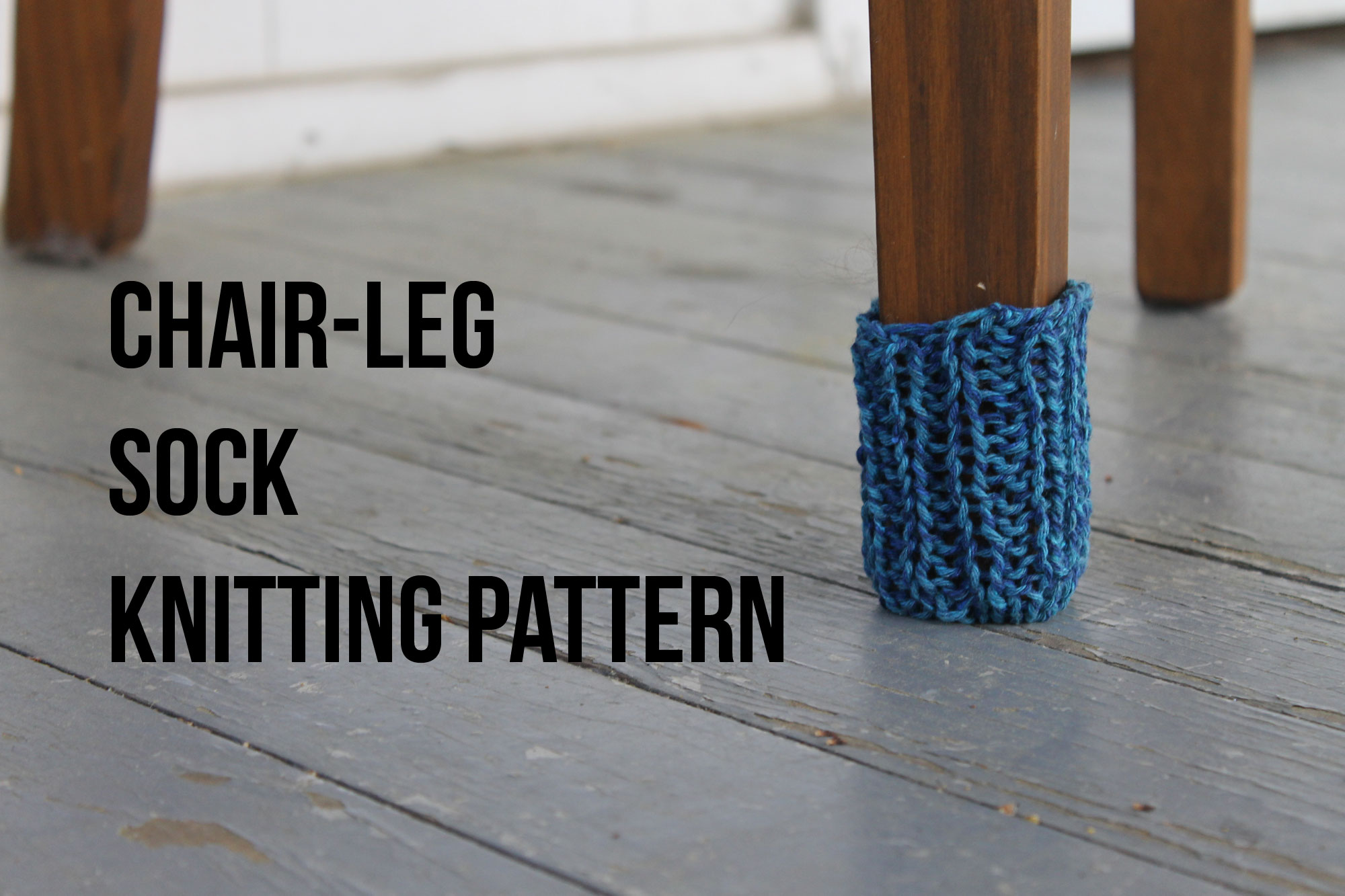 Knitting a chair-leg sock free pattern