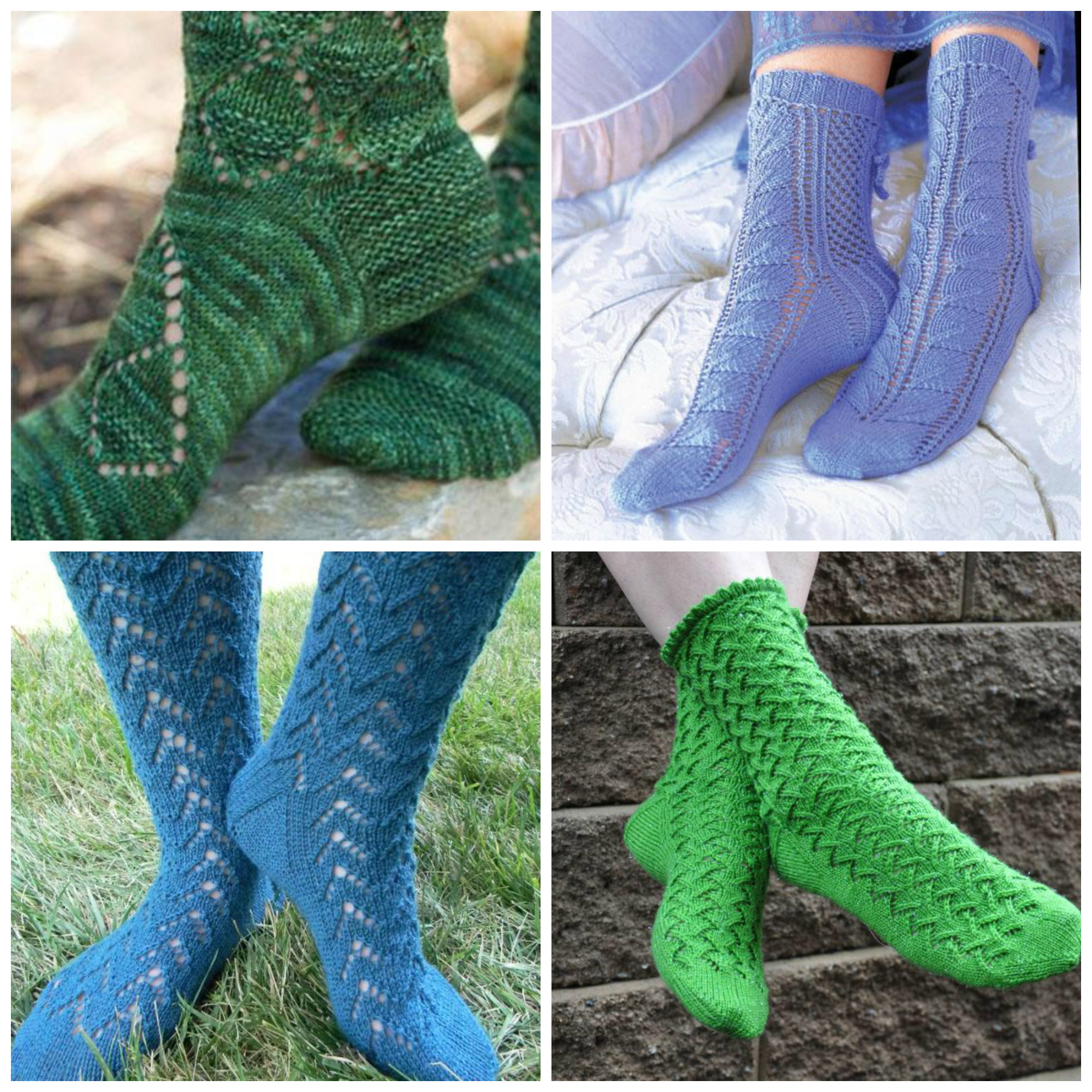 Lace Socks Knitting Patterns for Summer
