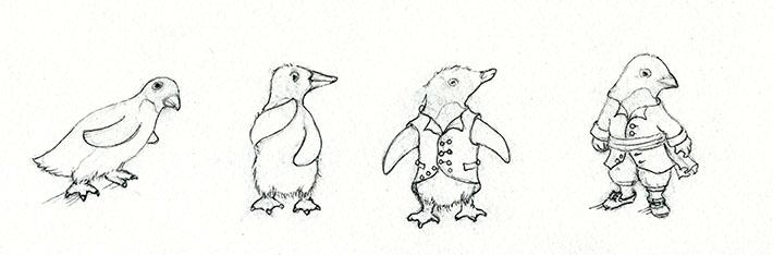 Anthropomorphic penguins