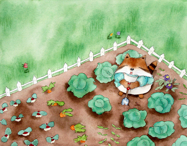 Summer Garden Painting