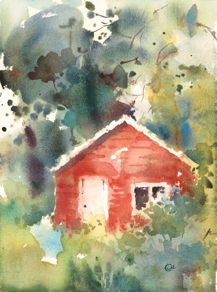 Landscape watercolor example