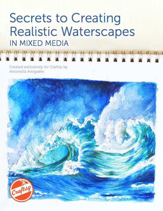 Secrets to Creating Realistic Waterscapes in Mixed Media - FREE PDF guide on Bluprint