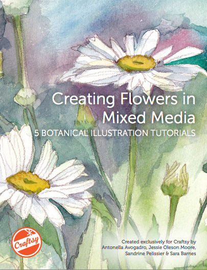 Creating Flowers in Mixed Media: FREE Botanical Illustration Tutorials on Bluprint