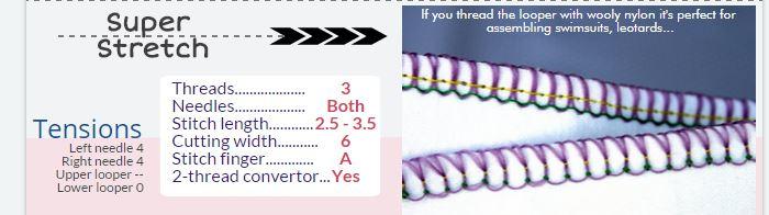 Serger Pepper - Durable Knit fabric seams - Super stretch settings