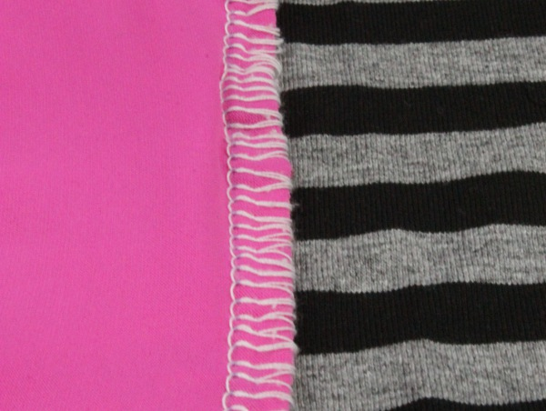 Durable seams on knit fabric - super stretch stitch on a serger