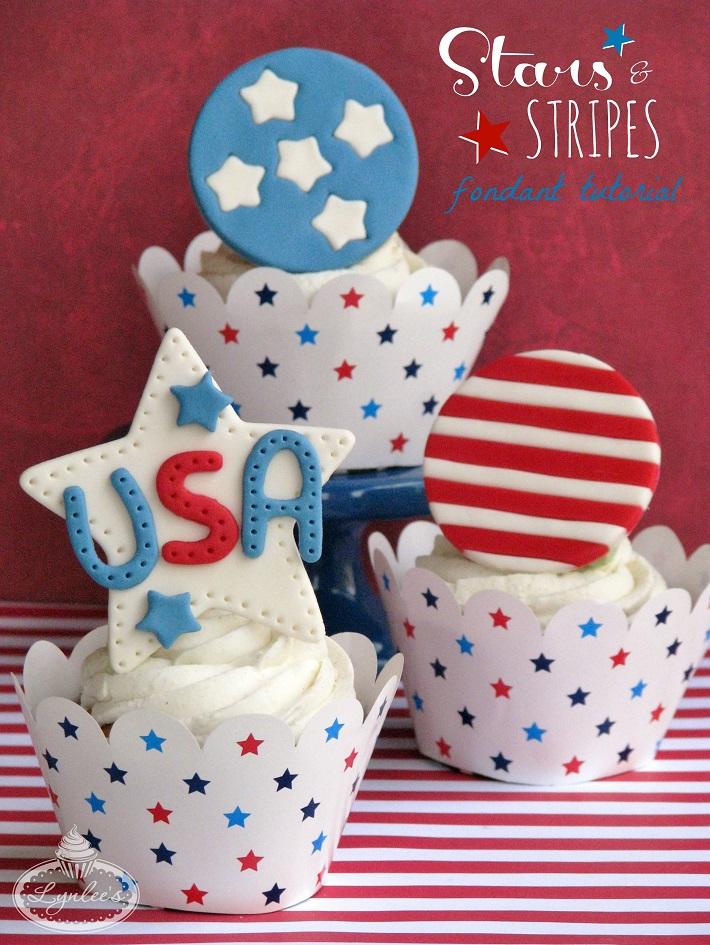 Stars and  Stripes fondant tutorial