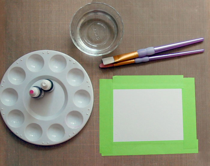 Step-2-Tape-paper to work surface