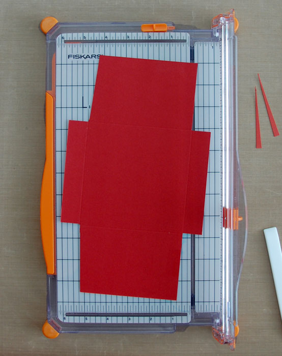 Step 5 (opt) Angle edges of top and bottom flaps
