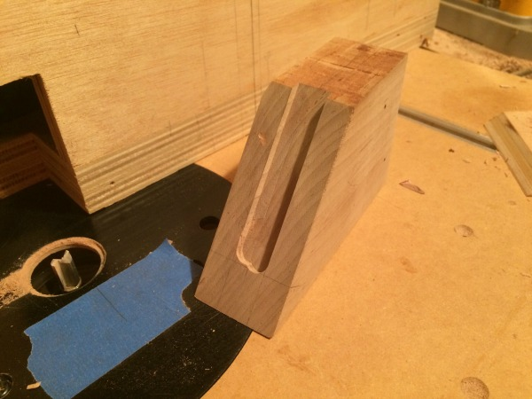 bed block with groove
