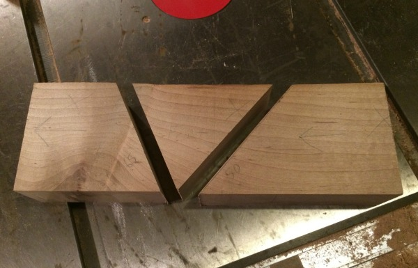 blocks cut to final angles