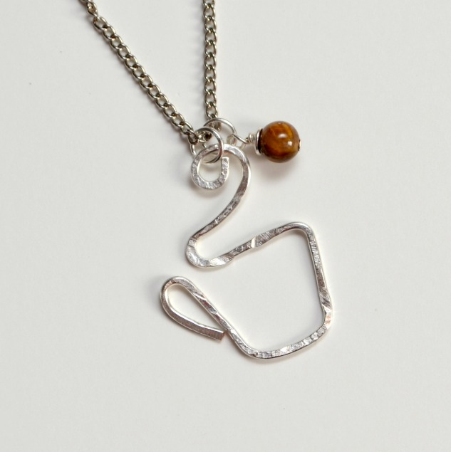 Wire Coffee Cup Necklace