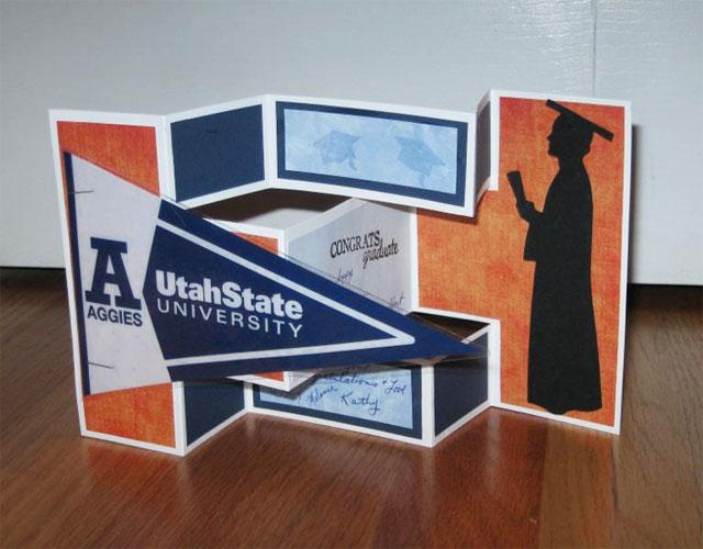 Graduation Pennant Flag Handmade Card