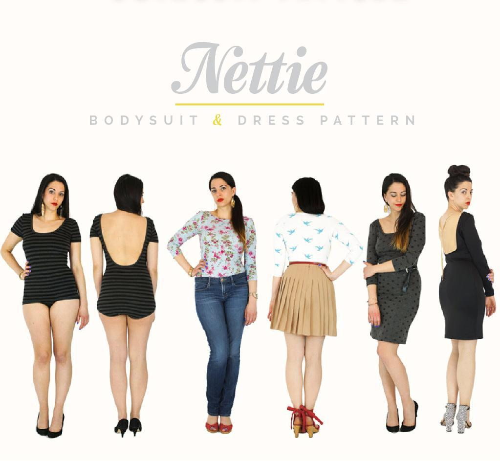 Closet Case Files Nettie Bodysuit and Dress pattern