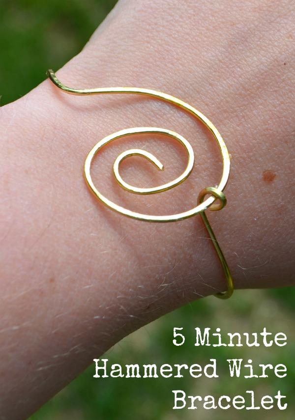 Simple Wire Jewelry: 5 Minute Bracelet