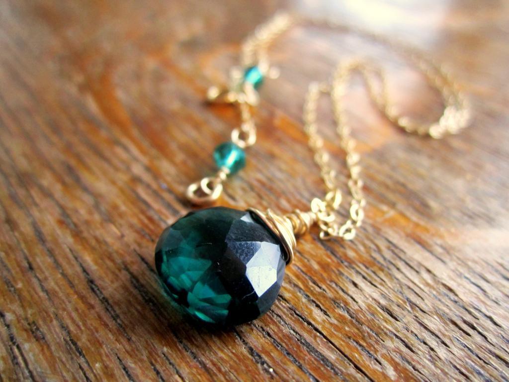 Emerald Green Quartz Necklace
