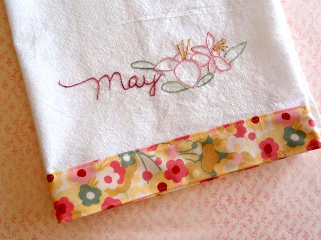 May Lily Flour Sack Towel