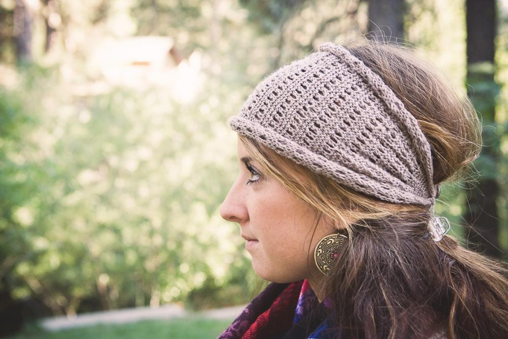 Lacy Head Wrap knitting pattern