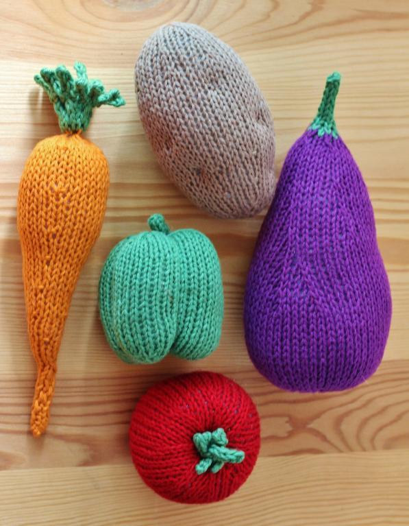 Farmers Market food knitting pattern