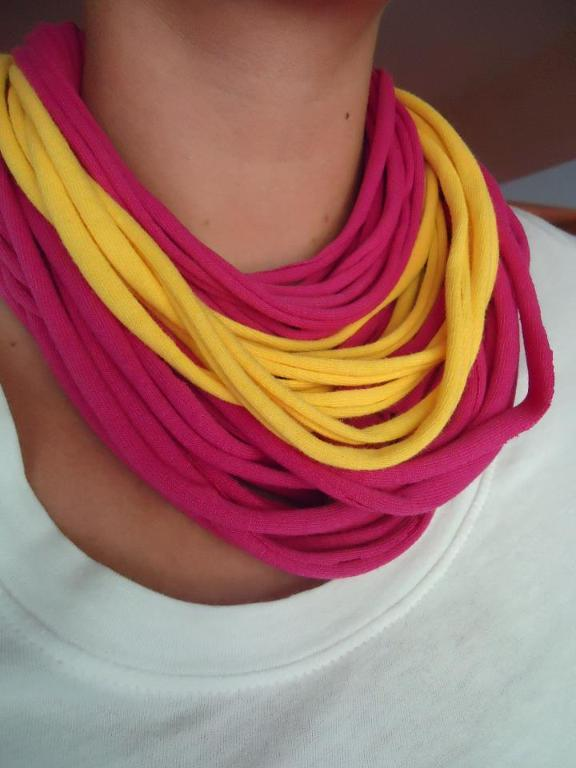 Neon Recycled T-Shirt Necklace