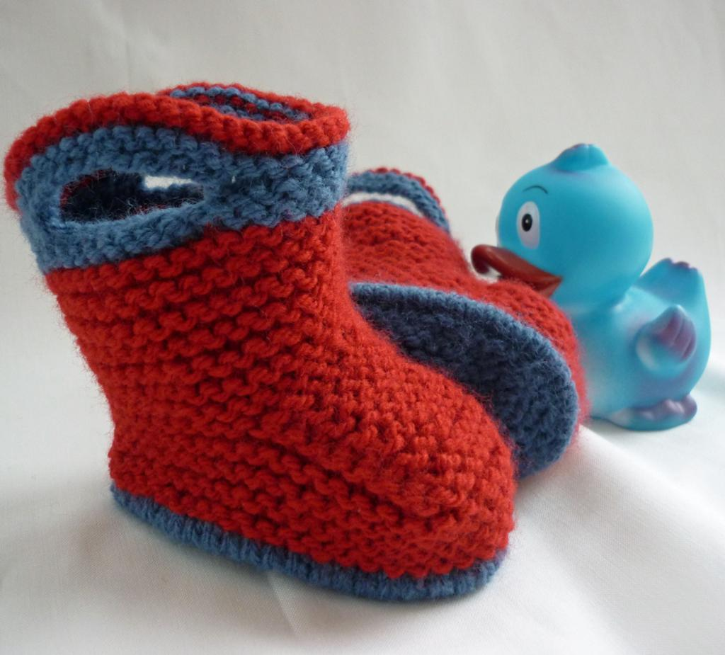 Splish Splash Splosh Baby Booties Knitting Pattern